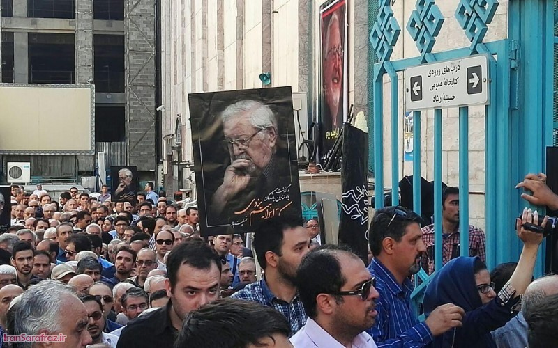 مراسم تشییع پیکر دکتر ابراهیم یزدی